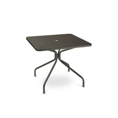 Cambi square table; 90cm top Black