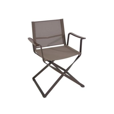 Ciak folding armchair Indian Brown