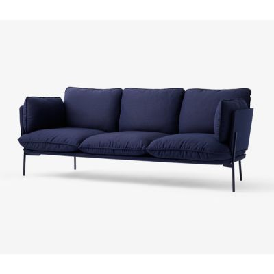 Cloud Three Seater LN3 black blue by &TRADITION