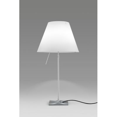 Costanza  Table LED, Complete Version, Alu Base, White Shade, Diffuser Accesory