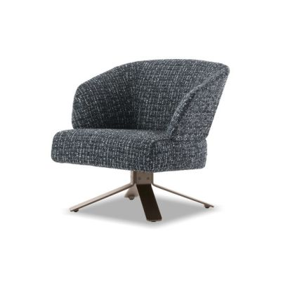 Creed Small Armchair swivel base by Minotti