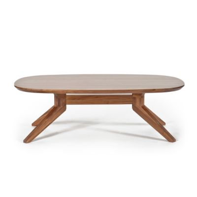 Cross oval coffee table by Case Furniture