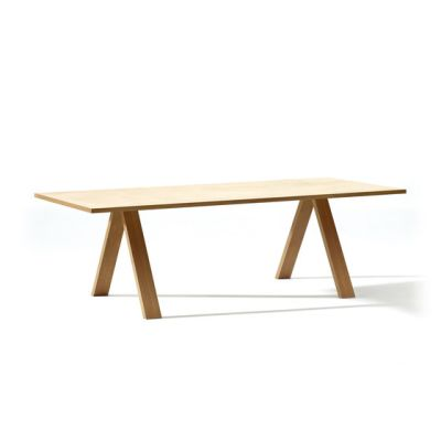 Cross Table by Arper Wood, 200 x 100 cm.
