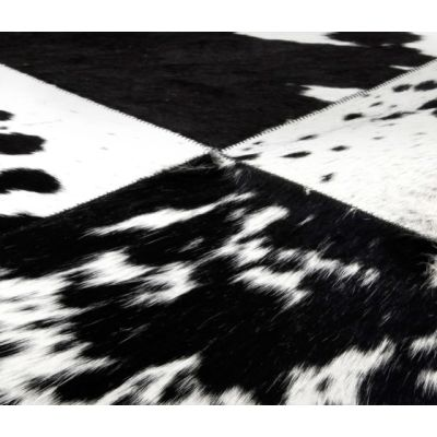 Cuero black & white, 200x300cm