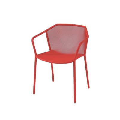 Darwin Dining Chair with Armrests - Set of 4 Scarlet Red 50