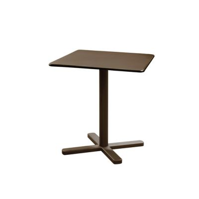Darwin folding square table; 70cm top Indian Brown