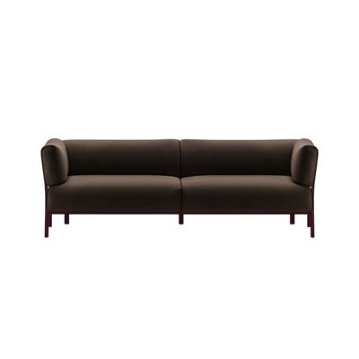 eleven 3-seater sofa 862 aubergine,steelcut 695
