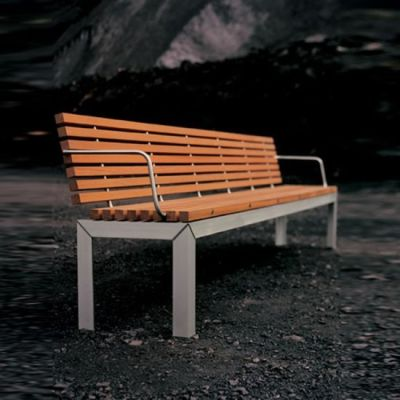 Extempore bench with back by extremis