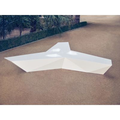Faz Outdoor Bench White