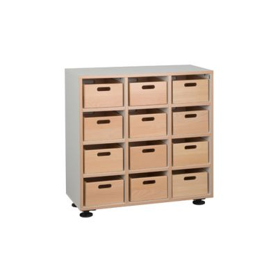Floor unit with toy boxes DBF-301-10 by De Breuyn
