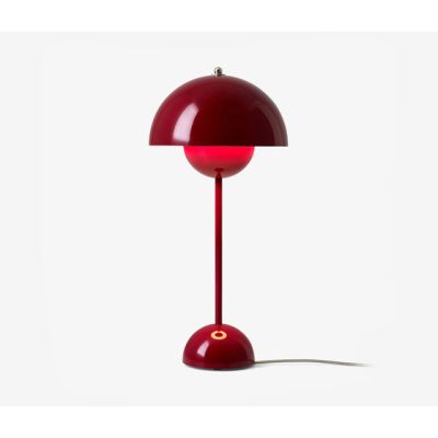 FlowerPot Table VP3 deep red by &TRADITION