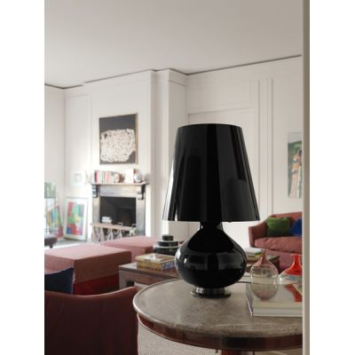 Fontana Total Black Table lamp big by FontanaArte