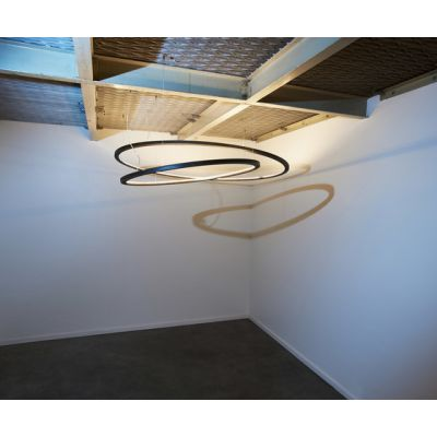 Framed suspension lamp circle by Jacco Maris
