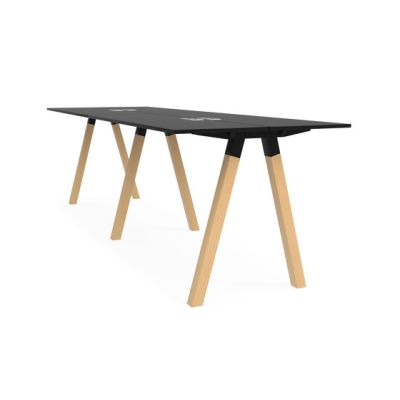 Frankie bench desk high wooden A-leg 110cm by Martela Oyj