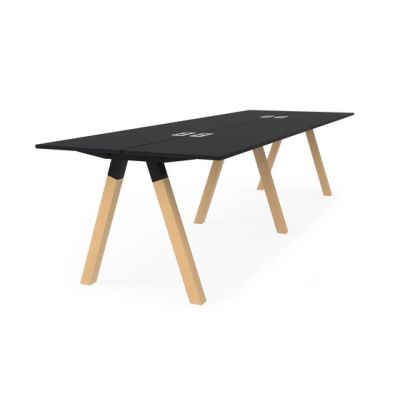 Frankie bench desk high wooden A-leg 90cm by Martela Oyj