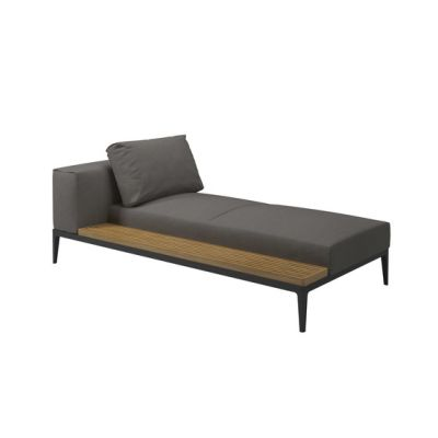 Grid Left/Right Chaise Unit by Gloster Furniture
