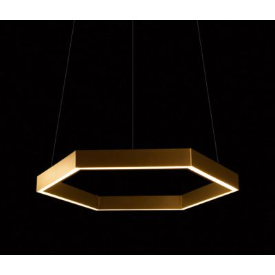 Hex 750 Brass Pendant by Resident