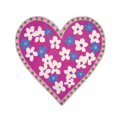 Kids Rugs - Candy Hearts Fuchsia by Designers Guild