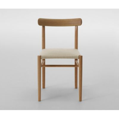 Lightwood Armless Chair (Cushioned) by MARUNI