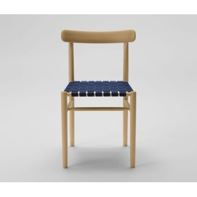 Lightwood Armless Chair (Webbing Seat) by MARUNI