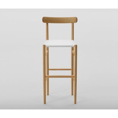 Lightwood Bar Stool High (Mesh Seat) by MARUNI