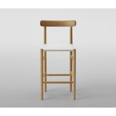 Lightwood Bar Stool Mid (Mesh Seat) by MARUNI