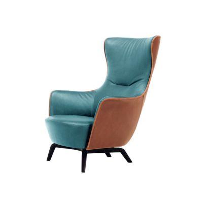 Mamy Blue Armchair by Poltrona Frau