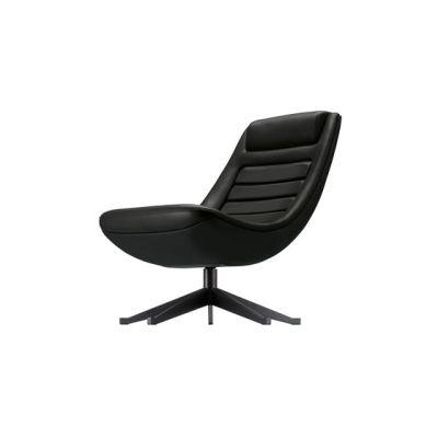 manzù armchair 090 black black aluminum,black SC 30 africa