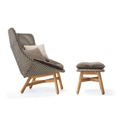Mbrace Lounge chair & Footstool by DEDON