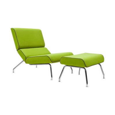 Milo lounge chair with footstool by Softline A/S