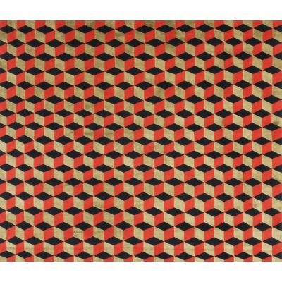 Mini infini red gold by cc-tapis