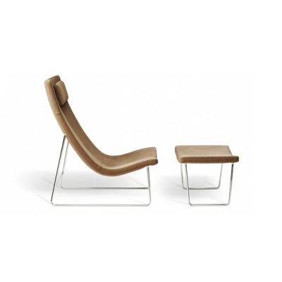 Model 1282 Link | High-Back Chair with Stool by Intertime