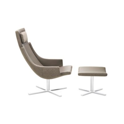 Model 1283 Link | High-Back Chair with Stool by Intertime