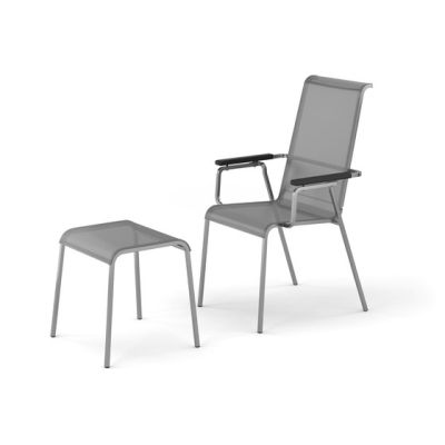 Modena armchair adjustable with footrest by Fischer Möbel