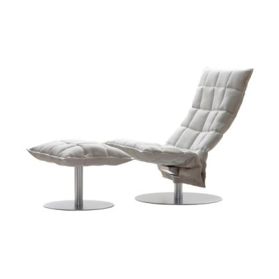 Narrow k Chair and Ottoman by Woodnotes