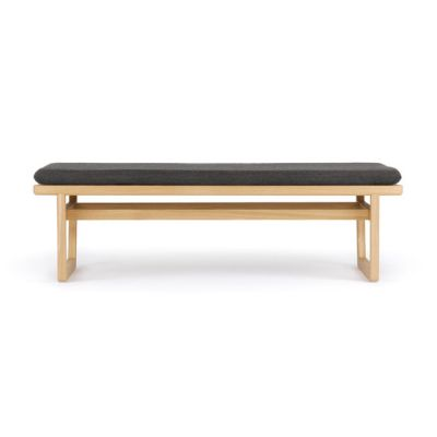 Oak bench small by Bautier