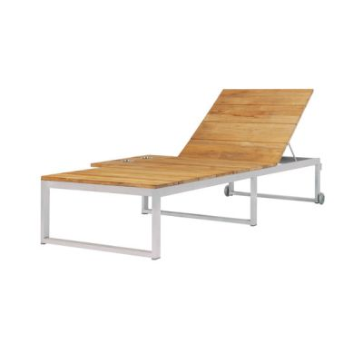 Oko Lounge sun lounger with tray by Mamagreen