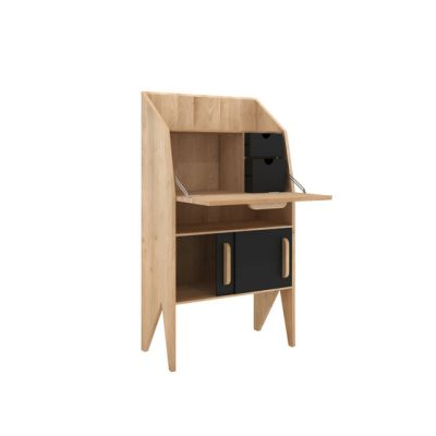 Oak Marius Origami Secretary Black