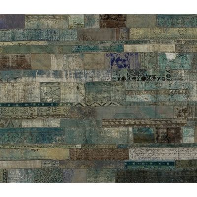 Patchwork Restyled aqua by GOLRAN 1898