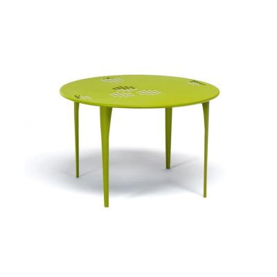 Pattern round table; 117cm top Green