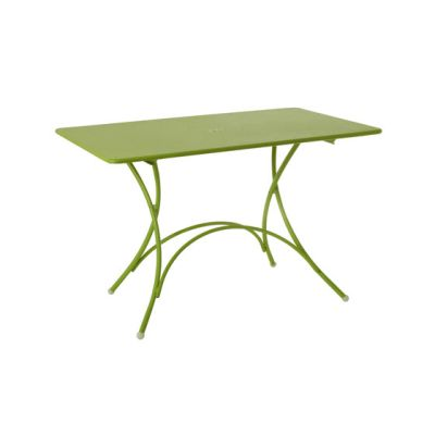Pigalle folding rectangular table Green