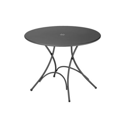 Pigalle folding round table Antique Iron