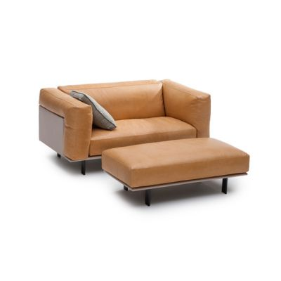 Recess loveseat/footstool by Linteloo