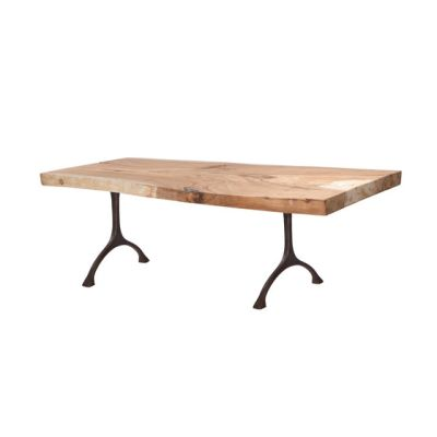 Rough Dining Table Black Iron Legs, 220 cm