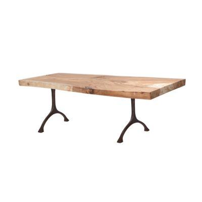 Rough Dining Table Black Iron Legs, 220 cm