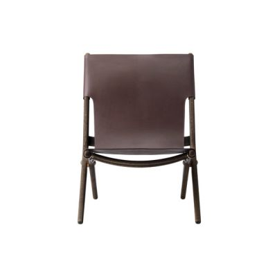 Saxe, smoked oak # brown leather dark oiled oak /brown leather