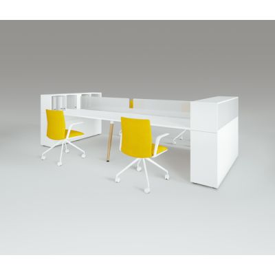 Scando Four-seat office desk by Ergolain