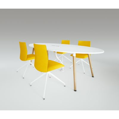 Scando Oval conference tabale by Ergolain