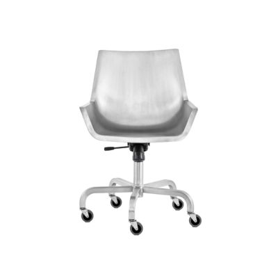 Sezz Swivel Chair With Castors Hand Brushed