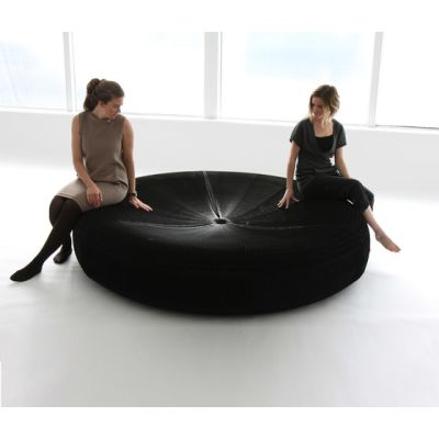 softseating | black paper softseating lounger by molo